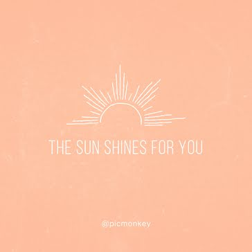 Sun Shines for You - Instagram Post template