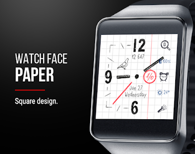 Paper Watch Face Screenshot