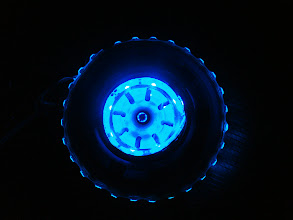 Photo: Testing the core with the added outer ring LED strip.