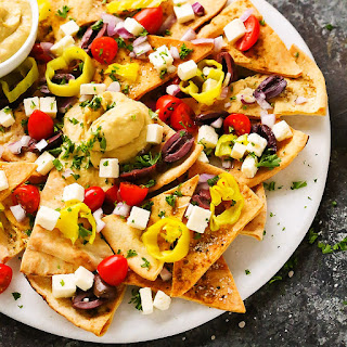 Mediterranean Nachos with Hummus Recipe