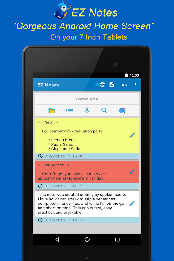 EZ Notes - fast notes & lists- screenshot