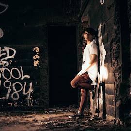 Sk8 on the wall by Luciana Luraschi - Sports & Fitness Skateboarding ( shoes, skate, urban photography, bans, street art, rusty, nikelifestyle, nike, skateboarding, urban, nigga, awesome, dude, graffiti, dark, tough, factory, adidas, kicks )