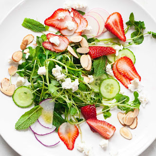 Watercress Salad with Strawberries and Feta.