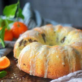 Tangerine Dark Chocolate Pound Cake.