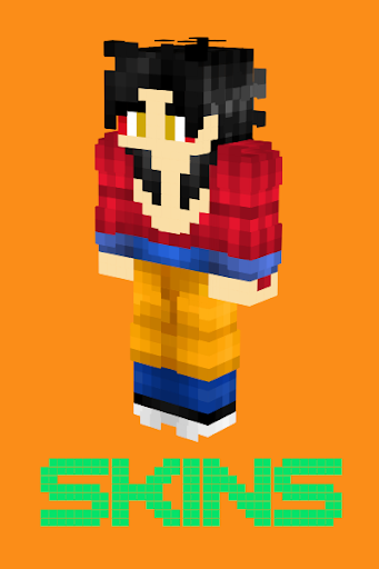 GOKU Skins For MCPE APK On PCMac AppKiwi Apk Downloader - Skin para minecraft pe goku