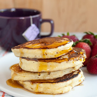 Fluffy Ricotta Pancakes.