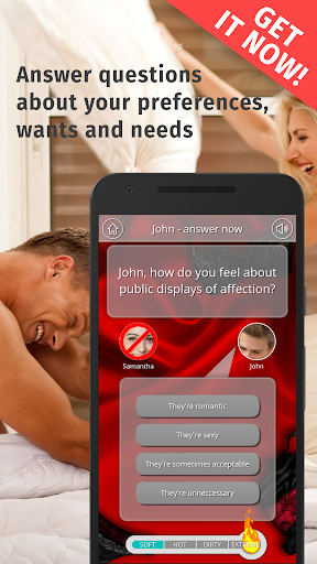 Télécharger Adult Couple Sex Game about Erotic Questions APK MOD (Astuce) screenshots 1