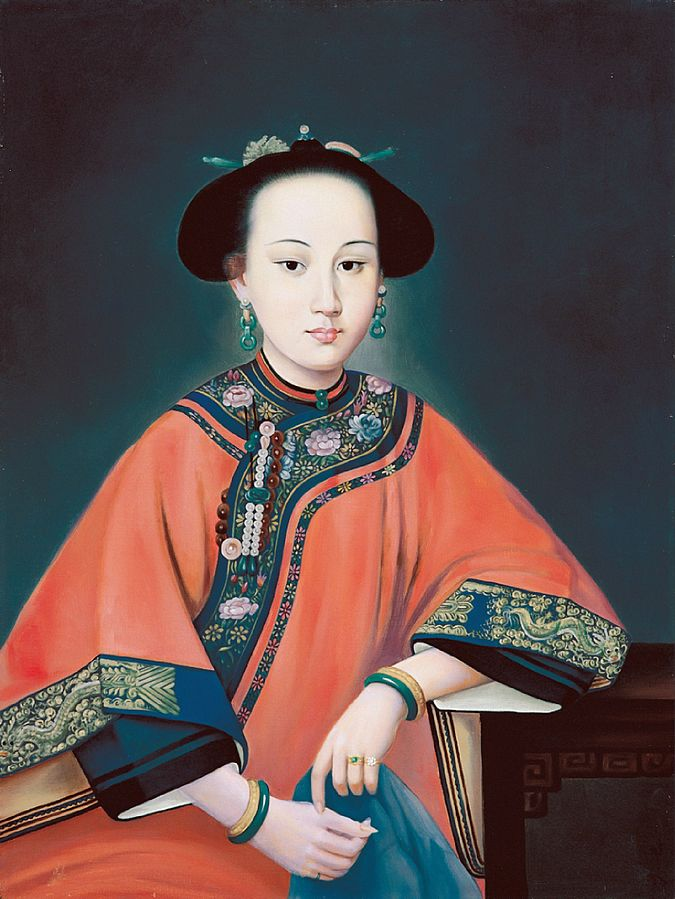 Portrait of Lady Hoja by Giuseppe Castiglione, image from Art History Project.