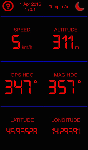 Simple GPS Dashboard
