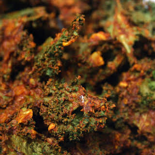Crunchy Vegan Cheesy Chipotle Kale Chips.