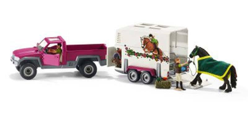 Contenido de Schleich® 42346 Camioneta con Remolque para Caballos
