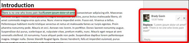 Google Docs Suggest an Edit