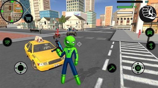Spider Stickman Rope Hero  2 - Gangster Crime City 1.5 screenshots 1