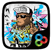 Rock Graffiti GOLauncher Theme