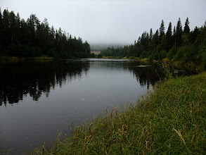 Photo: Foggy morning along the Oulanka River