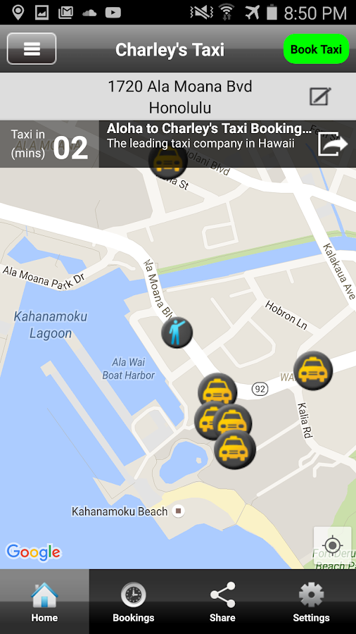 Charley's Taxi Honolulu- screenshot