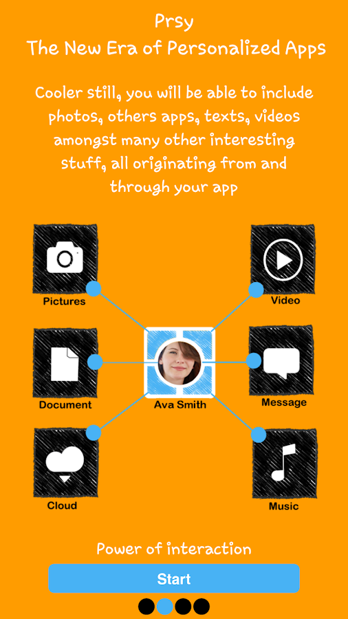 Prsy-Build your own social app- screenshot