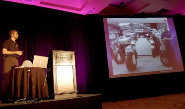 Photo: Jeff Norris gives the best keynote ever at EclipseCon 2010