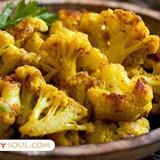 Roasted Turmeric Cauliflower.