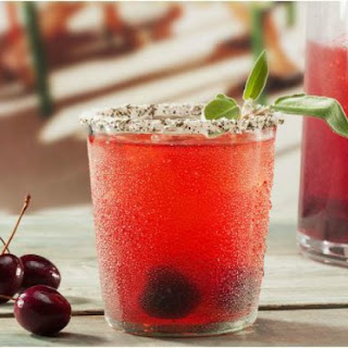 Refreshing Cherry Sage Smash Cocktail
