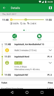 INVG Fahrinfo Ingolstadt - screenshot