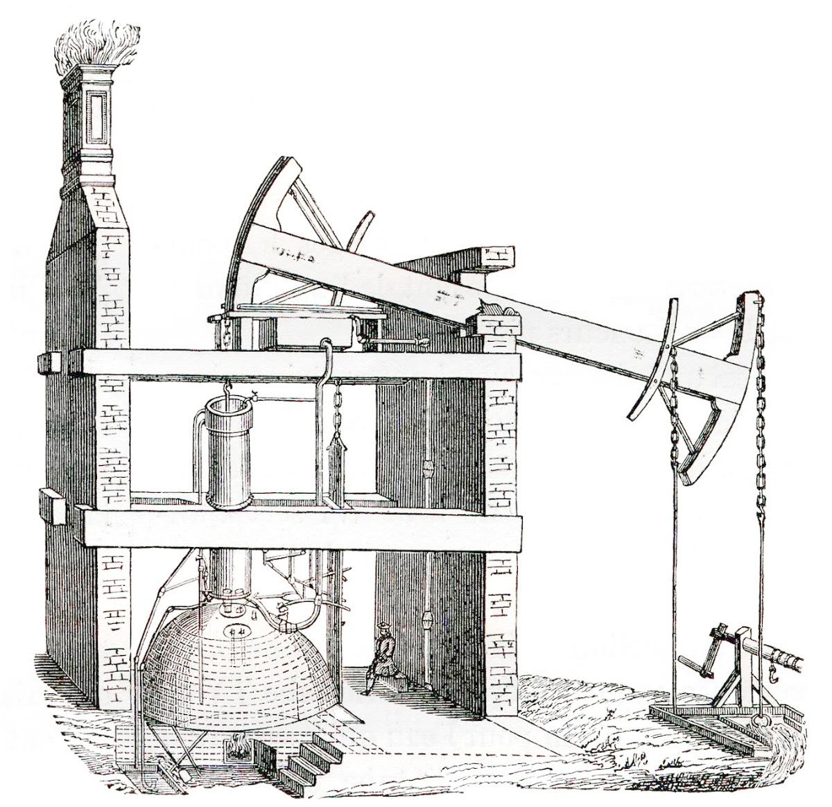 Máquina de vapor de Newcomen - Louis Figuer — Google Arts & Culture