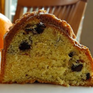 Orange Cranberry Chip Bundt Cake.