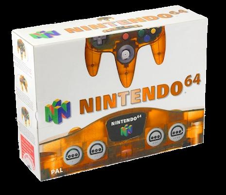 Nintendo 64 Console Clear Fire Orange