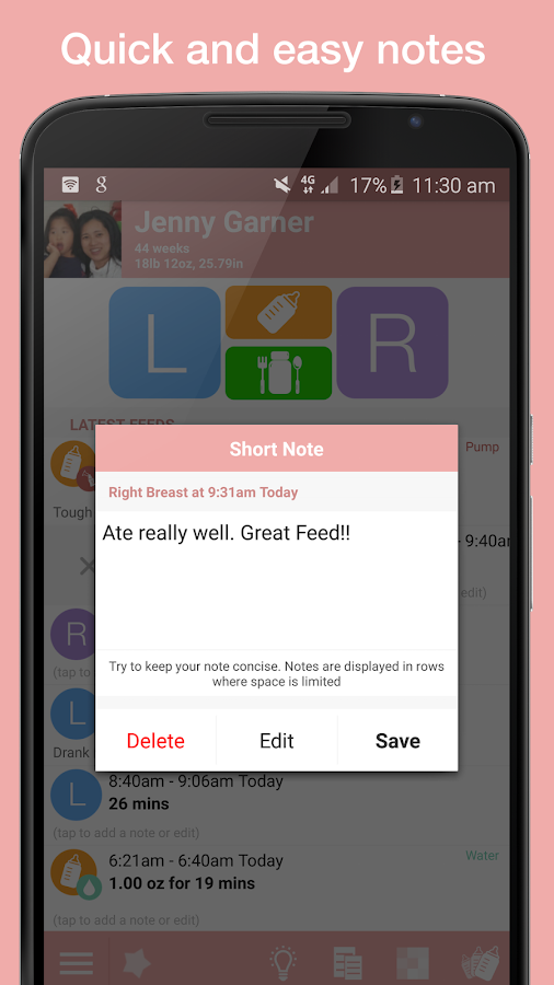 Feed Baby - Tracker for Babies- screenshot