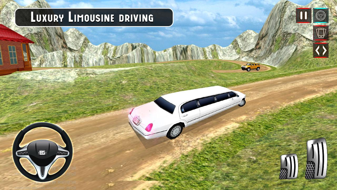 Limousine Taxi Offroad Parking- screenshot