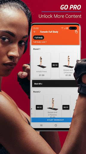 MMA Spartan System Female ud83eudd4a - Home Workouts PRO screenshots 1