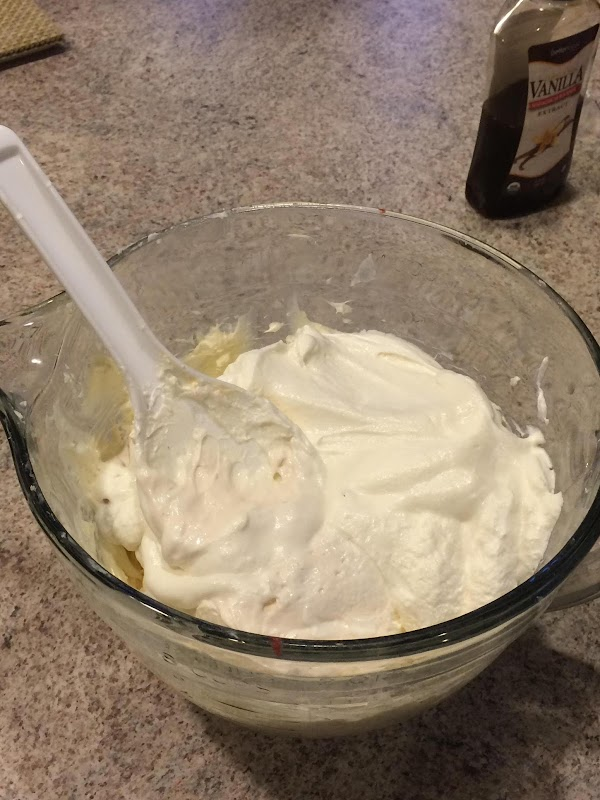 Mix Neufchâtel, sugar, and vanilla until smooth. Stir in 2/3 of the container of...