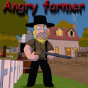 Angry farmer icon