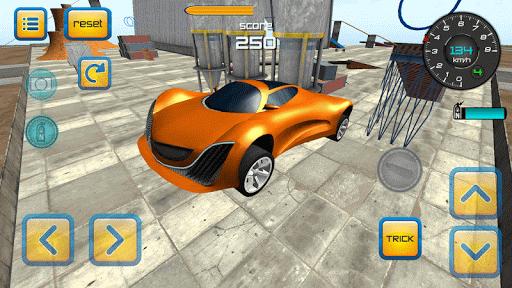 車のジャンプ - 工業地帯