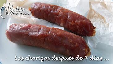 Chorizo #Dukan Curado, en proceso de curación