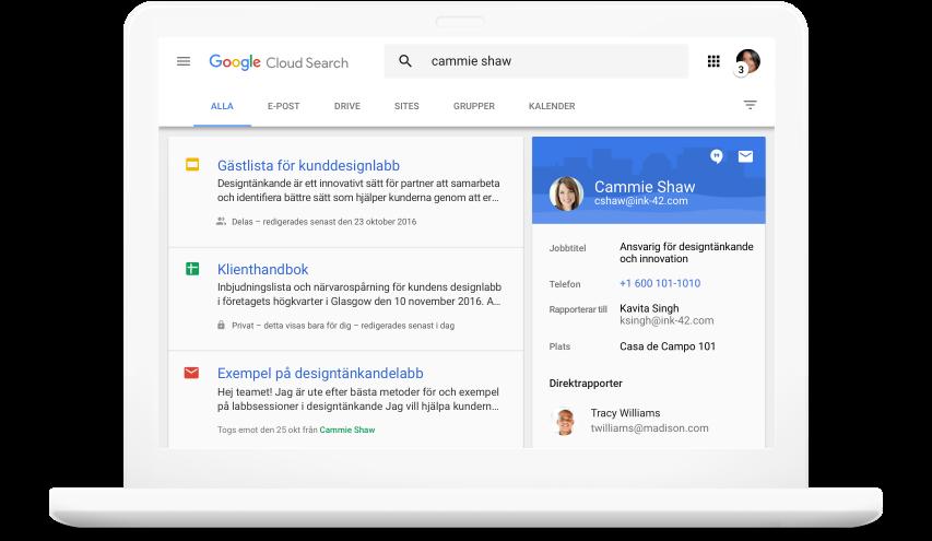 Sök i Google Workspace -produkter
