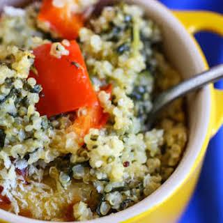 Spinach and Cheese Quinoa Casserole.