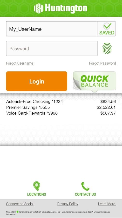 huntington bank customer service