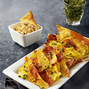 Salted Lemon Thyme Chips with Feta Dip