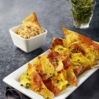Salted Lemon Thyme Chips with Feta Dip.