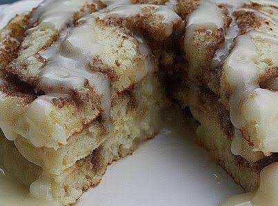 Cinnamon Roll Pancakes.  What Are You Waiting For???