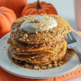Pumpkin Cheesecake Pancakes