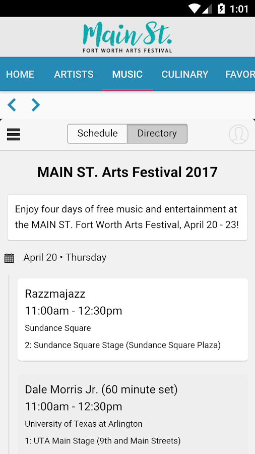 MAIN ST. Fort Worth Arts Fest- screenshot