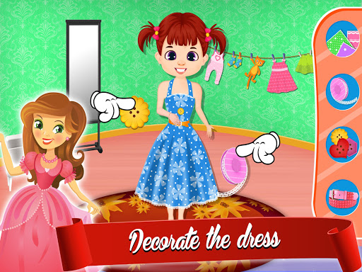 Cute Dress Maker Shop: Little Tailor Boutique android2mod screenshots 2