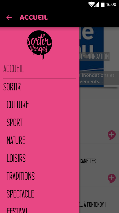 Sortir Vosges- screenshot