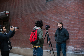 Photo: Black Box Films shooting a book trailer in NYC (photo by Spyr Media)