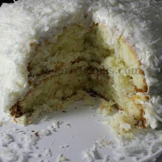 Semi Homemade Coconut Cake.