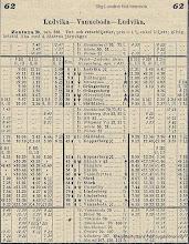 Photo: Järnvägsstationen i Vasselhyttan. Tidtabell 1925