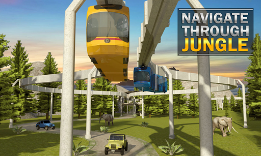 Elevated Train Driving Simulator: Sky Tram Driver apktram screenshots 3