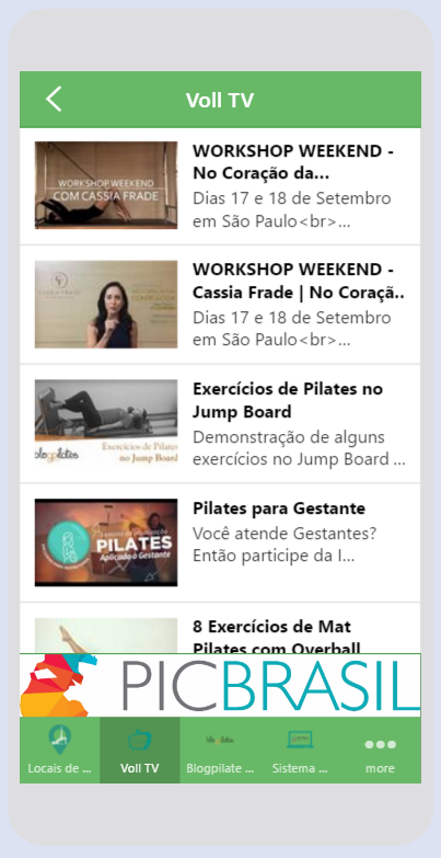 Voll Pilates Group: captura de tela